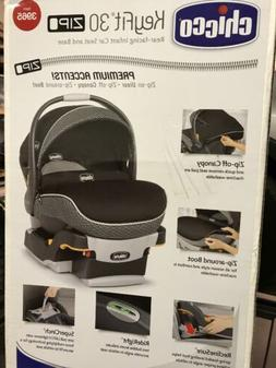 Chicco KeyFit 30 Zip Infant Car Seat in Manhattan + Base + E