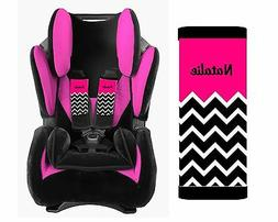 PERSONALIZED BABY TODDLER CAR SEAT STRAP COVERS HOT PINK TOP